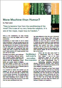 More Machine than Human / Mehr Maschine als Mensch